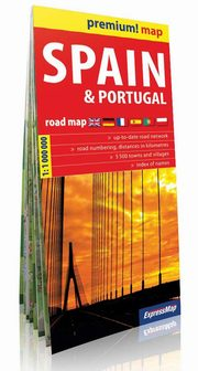 Spain and Portugal Road Map 1:1 000 000,