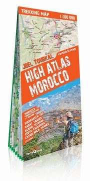 Maroko Atlas Wysoki (High Atlas Maroko) trekking map,